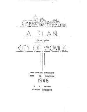 A Plan for the City of Vacaville 1946