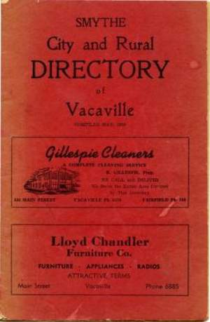 City and Rural Directory of Vacaville 1950